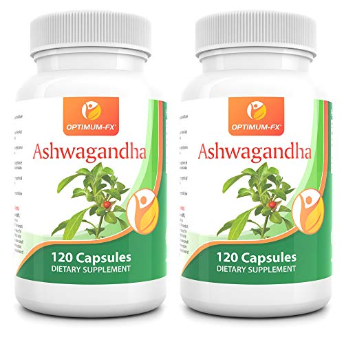 Ashwagandha Root Extract - Natural Ayurvedic Adaptogenic Supplement - Supports Wellness - Combat Stress - 1000 mg Powder per Serving (60 Day Supply) 120 Capsules