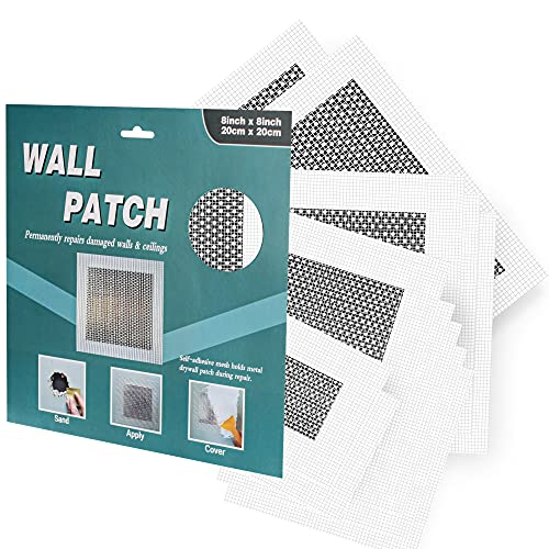 Drywall Repair Patch – 12 Pieces Drywall Patch Self Adhesive 2/4/6/8 Inch, Aluminum Wall Repair Patch Kit, Drywall Repair Kit, Wall Hole Repair Kit, Dry Wall Patch Kits, Wall Patches for Holes