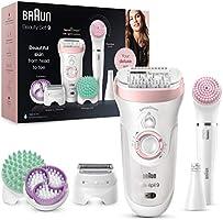 Brun Silk-épil 9 Flex Depiladora Mujer 9en1 con Tecnología SensoSmart, Kit de Belleza Uso en Seco y en Mojado,...