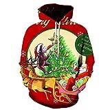 Mr.BaoLong&Miss.GO Otoño E Invierno Suéter con Estampado Navideño para Hombre Chaqueta Navideña Sudadera...
