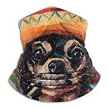 メンズネックウォーマー 犬犬チワワメキシコ 秋 冬 防寒対策 保温 防風 裏ボア ふわふわ 暖かい 首巻き 無地 男女兼用 小顔効果抜群 26X30CM