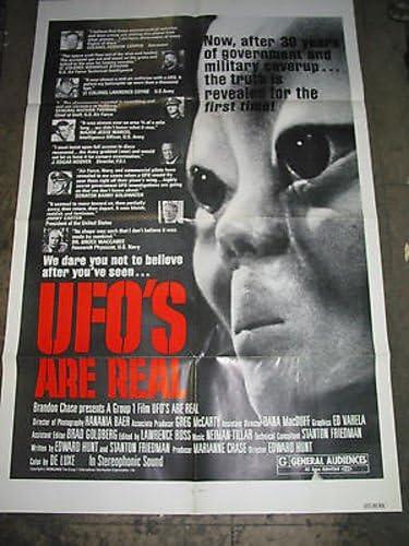 UFOS ARE Popular standard REAL ORIGINAL U.S. POSTER DOCUMENTAR MOVIE Philadelphia Mall ONE-SHEET