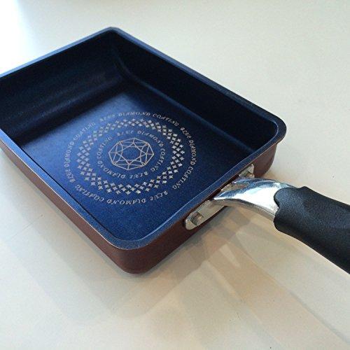 パール金属卵焼きフライパン13×18cmIH対応玉子焼き器ライズブルーダイヤモンドコートHB-323ブラック