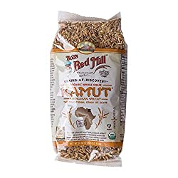 WHOLE GRAIN KAMUT, BOBS RED MILL IN CLEAR BAG
