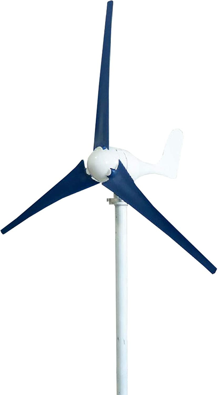 LXLH Aerogeneradores, aerogenerador 300W / 400W Generador de Viento híbrido 12V / 24V Controlador híbrido Generador de turbina de Viento Generador de aerogenerador de 3/5 Palas, Rojo, Blanco, azu