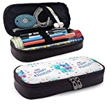 XCNGG Kosmetiktasche mit Federmäppchen with Little Cute Cartoon PrettyLeather Pencil case, Waterproof, Fashionable and Durable, can be Used for Students, Schools, Offices, Colleges