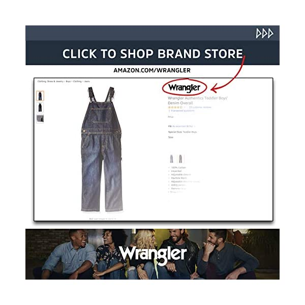 Wrangler boys Authentics Denim Overall Jeans