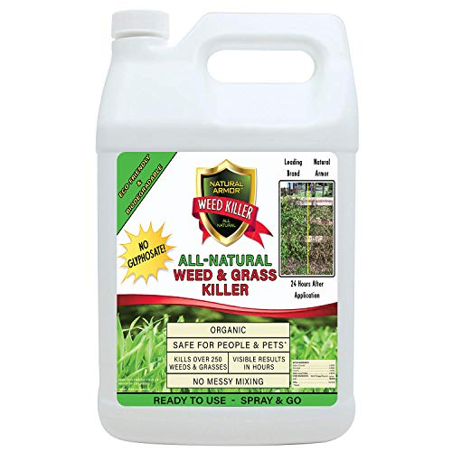 Natural Armor Weed and Grass Killer All-Natural Concentrated Formula. Contains No Glyphosate (128 OZ. Gallon Refill)