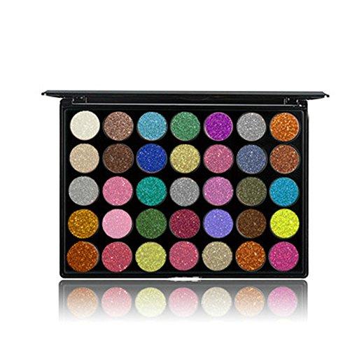 Fards à paupières,35 couleurs chatoyantes poudre palette Mat Eyeshadow -Lonshell