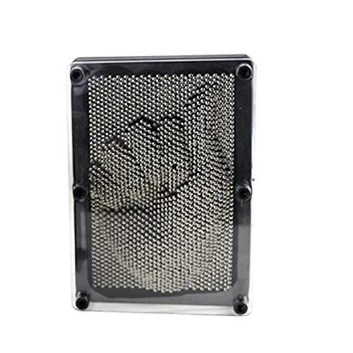 squarex Toys 3D Antistress Metal Clone Fingerprint Needle Painting Christmas Kids Gift (M (17.5×12.5×5.5CM))