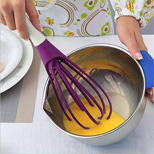 Dfghbn Manuelles Mischen Von Eiern Kunststoff Ei Schläger Hand Milcheier Sahne Backen Whisk Mixer Backen Mehl Rührer Küche Hand Mixer Kochen Werkzeug (Farbe : Yellow, Size : 29x7.9cm)