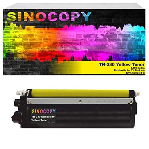 SinoCopy Yellow XXL Toner kompatibel für Brother TN-230 HL-3040N HL-3040CN HL-3070CN HL-3070CW MFC-9120CN MFC-9320CW DCP-9010CN