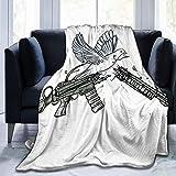 yuanchen Fucile da cecchino Peace Bird Throw Blanket Ultrasoft Micro Fleece Coperta Super ...