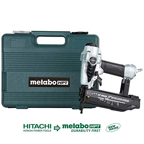 Read About Metabo HPT Brad Nailer, Pneumatic, 18 Gauge, 5/8-Inch up to 2-Inch Brad Nails, Tool-less Depth Adjustment, Selective Actuation Switch, 5-Year Warranty (NT50AE2)