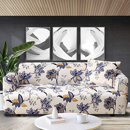 Copridivano elastico per divano con stampa floreale, copridivano per soggiorno, angolo e divano a 3 posti