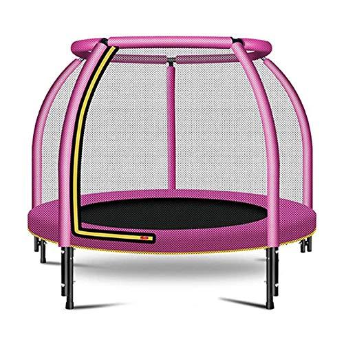ZTGHS Trampolin Für Kinder Erwachsene, Trampolin Mit Sicherheitsgehäuse Netzsprungmatte Und Federbezug Polsterung Indoor Outdoor Garten Springbett,Rosa