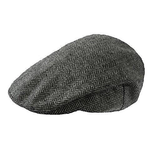 TOSKATOK Boys Girls Kids Tweed Flat Cap-Grey-H