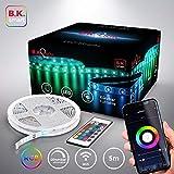 B.K.Licht I Smart LED Strip 5 Meter I WiFi LED Band I LED Streifen I App I Sprachsteuerung Alexa und...