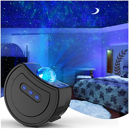 Star Projector Night Light, LED Starry Night Light Proyector Nubes dinámicas Cielo...