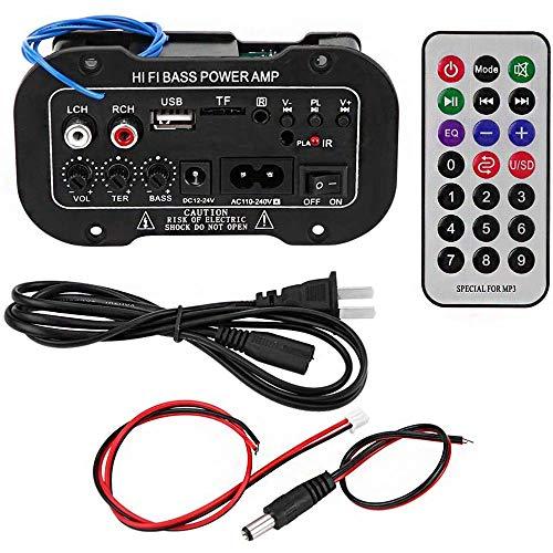 ANCLLO Amplificatore HiFi Bluetooth nero 5 pollici Amplificatore Bluetooth digitale per auto per auto Amplificatore audio stereo ad alta potenza per bassi HiFi