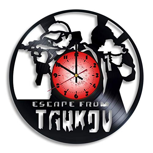 Escape from Tarkov Computer Game Logo Handmade Vinyl Record Wall Clock, Escape from Tarkov Kitchen Decor, Escape from Tarkov Gift for him and her