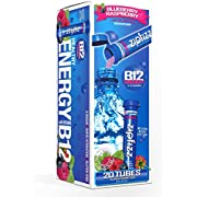Zipfizz Healthy Energy Drink Mix. Blueberry Raspberry, 20 Count