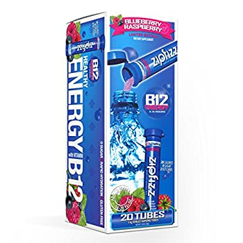 Zipfizz Healthy Energy Drink Mix Hydration with B12 and Multi Vitamins Blueberry Raspberry 20 Count