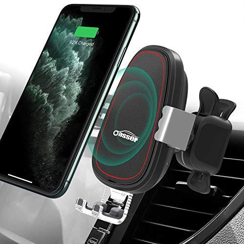 Oasser Kabelloses AutoladegerätWireless Car Charger Automatisch Spannen für iPhone XR/XS/XS Max/X/8 Galaxy S10/Note 9/S9/S8/Note 8 Huawei alleQi GeräteVerpackung MEHRWEG