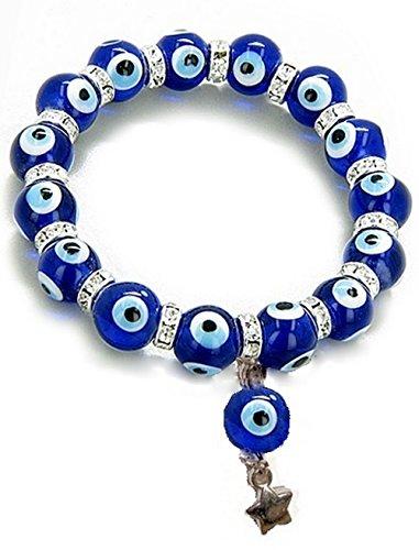 The Turkish Emporium Crystal Evil Eye Protection Lucky Charm Nazar Bracelet