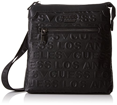 Guess - Hm6104pol73, Shoppers y bolsos de hombro Hombre, Negro (Nero), 4x24x23...