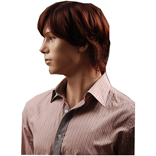 GAOFQ Hot Cosply Party Men Short Brown Wigs Business Men Wig Good Qualiry Wig Factory Realistic Wig Online