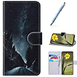 URFEDA Compatibile con Samsung Galaxy S9 Plus Custodia Pelle Cover Retro Flip Case Colorat...