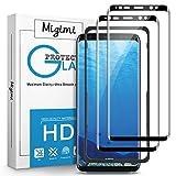 Migimi Protector Pantalla Samsung Galaxy S8, [2-Pack] Vidrio Templado 9H Dureza Anti-Huellas Dactilares, Alta Sensibilidad, Cristal Screen Protector para Galaxy S8 [Garantía de por Vida] (Negro)