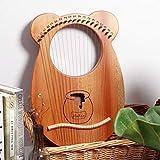 WellingA Lyre/Harpe Harpe 19 Cordes Harpe de Haute Qualité Instrument de Musique pour Débutants, Enfants, Adultes,001