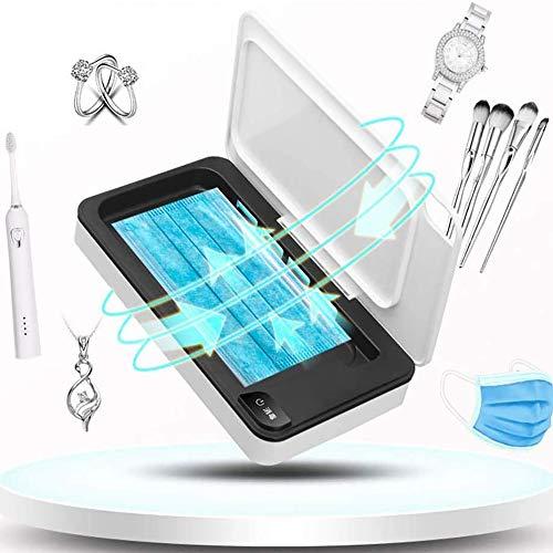 Uv-sanitizer box, multifunctionele desinfector met UV-licht beweegbare smartphone masker reinigingsmiddel aromatherapie, voor mobiele telefoons, bestek, make-upkwast, tandenborstel, ondergoed, sieraden enz.