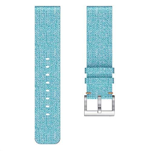 QWERBAM Bracelet Bracelet Tissé Tissu De Remplacement Bande for Versa Lite Montre Sport Dragonne Montre Intelligente 19Mar18 for Smart Watch (Color : B)