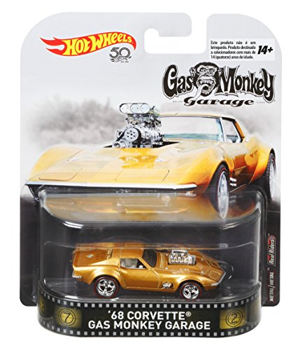 Hot Wheels 1968 Chevy Corvette Gas Monkey Garage Retro Entertainment 1:64 FLD15 DMC55
