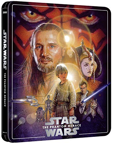 STAR WARS: THE PHANTOM MENACE 4K ULTRA HD LIMITED EDITION STEELBOOK / 3-DISC SET/ IMPORT / INCLUDES BLU RAY AND BONUS DISC / REGION FREE. / REGION FREE BLU RAY