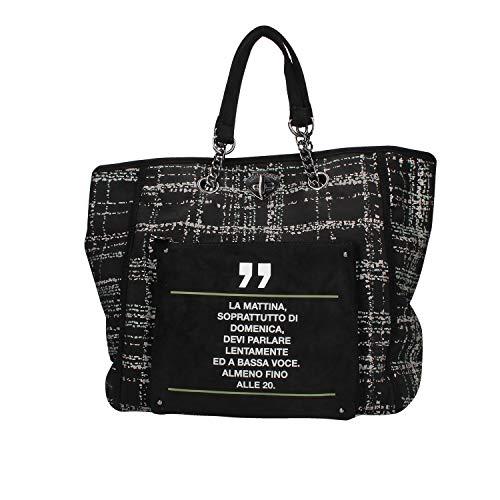LE PANDORINE Borsa Donna Shopping Domenica AI19DAU0240016-Black