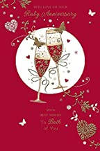 Ruby 40th Anniversary - Congratulations Both of You 40 Year Greeting Card