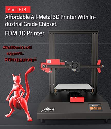 Anet ET4 Nivellement automatique de lit pour imprimante 3D pré-assemblée, détection et récupération de filament, écran tactile couleur de 2,8 pouces, haute précision 220x220x250 (US)