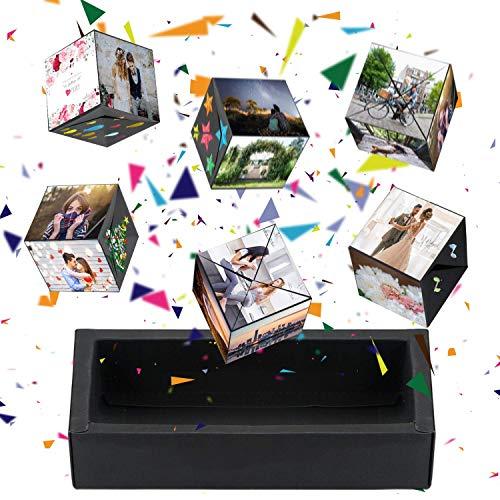 Aokebeey Kreative Pop Up Box Explosions-Box DIY Geschenkebox, Bouncing Box und Handgemachtes Scrapbook, Fotoalbum Zubehör Jahrestag Valentine Hochzeit Geschenk für Hochzeit Muttertag Weihnachten