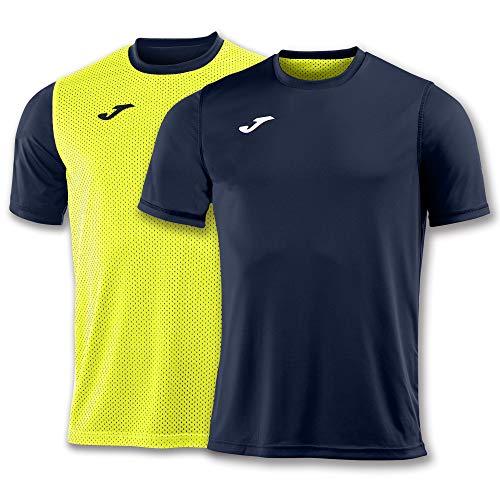 Joma Combi Camisetas Equip. M/C, Hombre, Marino-Amarillo, L