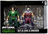 DC Collectibles Batman Vs Teenage Mutant Ninja Turtles - Ra's Al Ghul & Shredder Figure 2 Pack Exclusive