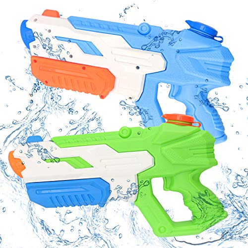 nicknack de Agua , Paquete de 2 Pistolas de Agua para niños, 600 ml, Pistola de Agua, Lanzador de Agua, Juguetes para Adultos, niños, niñas, Verano, al Aire Libre, Piscina, Playa, Piscina