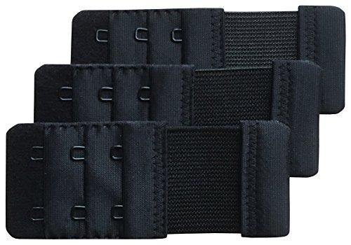 Chanie Damen Packung mit 3 Weich Komfortabel Erweiterung 2 Haken BH-Verlängerer, 9,2cm x 3,8cm