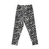 LPATTERN Kinder Mädchen Winter Leggings Thermo Leggins Strumpfhose Baumwolle Lange Hose Fleece-gefüttert, Zebra, 128/134(Label: 130cm)