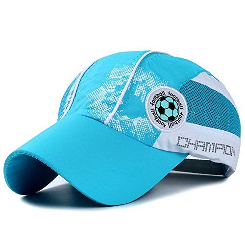 Home Prefer Kids Toddlers Lightweight Quick Dry Sun Hat UPF50+ Mesh Baseball Hat (Aqua Blue)