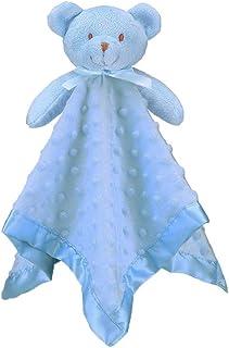 Pro Goleem Teddy Bear Lovey Baby Security Blanket Unisex Soft Blue Lovie Gift for Newborn Toddler 16 Inch