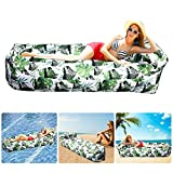 Bangcool Sofa Hinchable con Paquete Portátil,Impermeable Sofa Inflable Camping,Sofá De Aire Tumbona Hinchable Sofa Hinchable Playa Y Bolso Portatil para Viajes, Piscina, Camping(Verde)